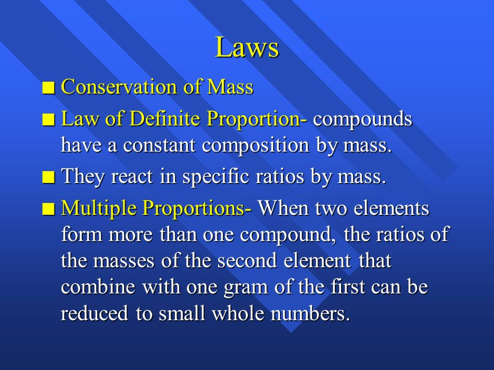 Laws Conservation of Mass