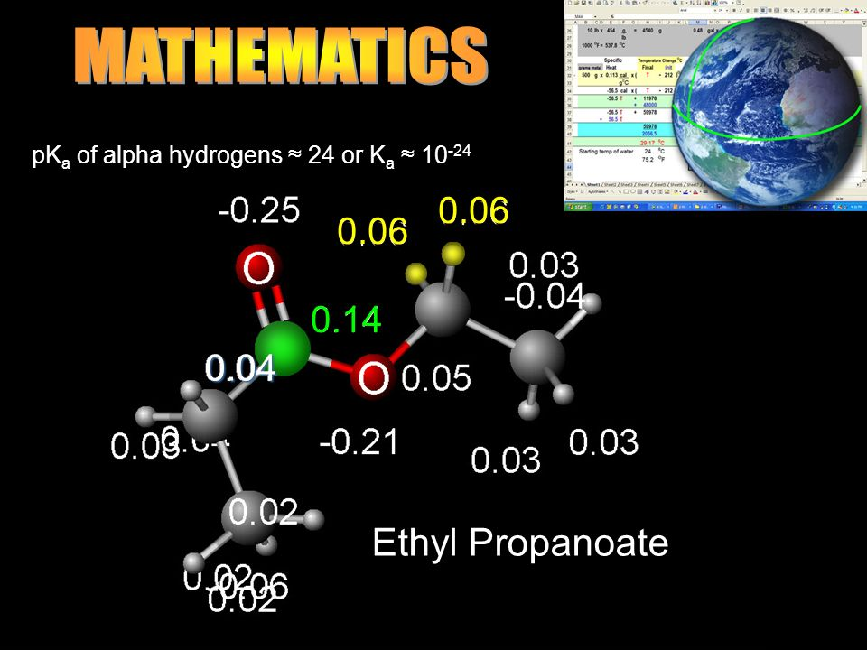 MATHEMATICS Ethyl Propanoate 0.04