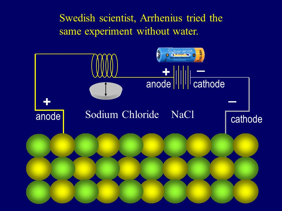 Swedish scientist, Arrhenius tried the same experiment without water.