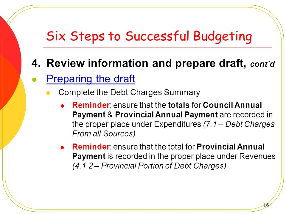 Six Steps to Successful Budgeting