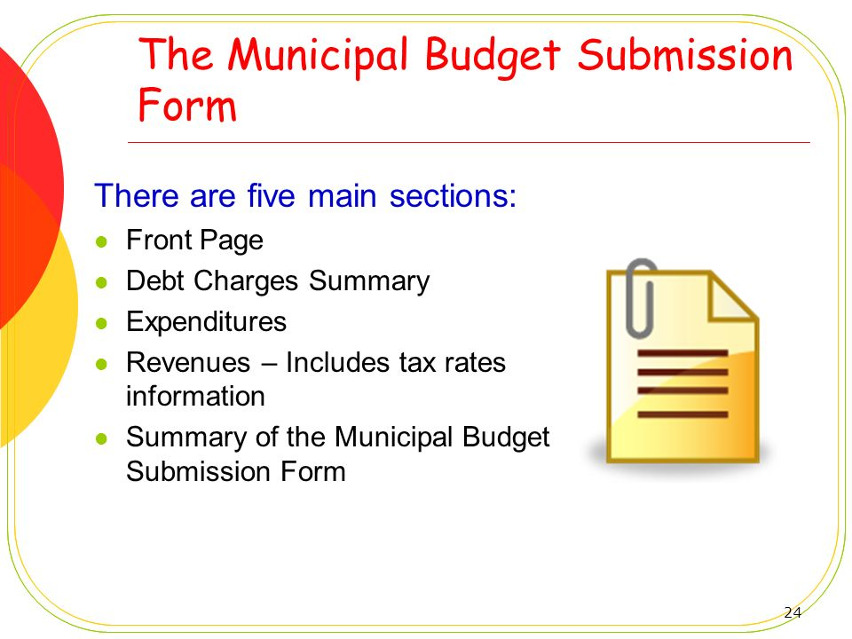 The Municipal Budget Submission Form
