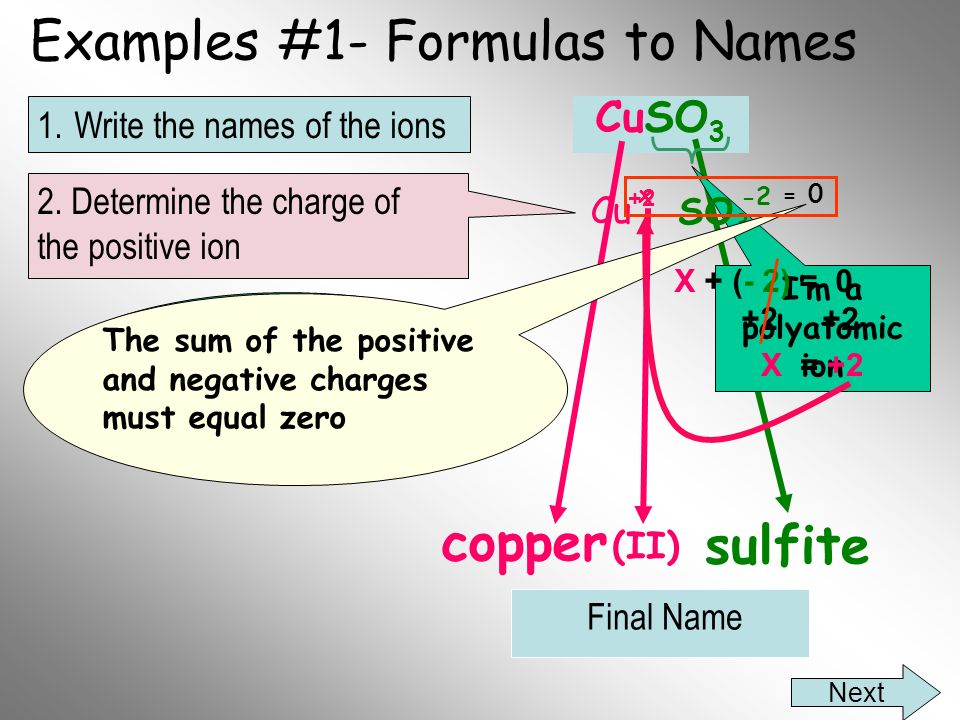 Examples #1- Formulas to Names