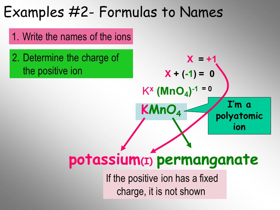 Examples #2- Formulas to Names
