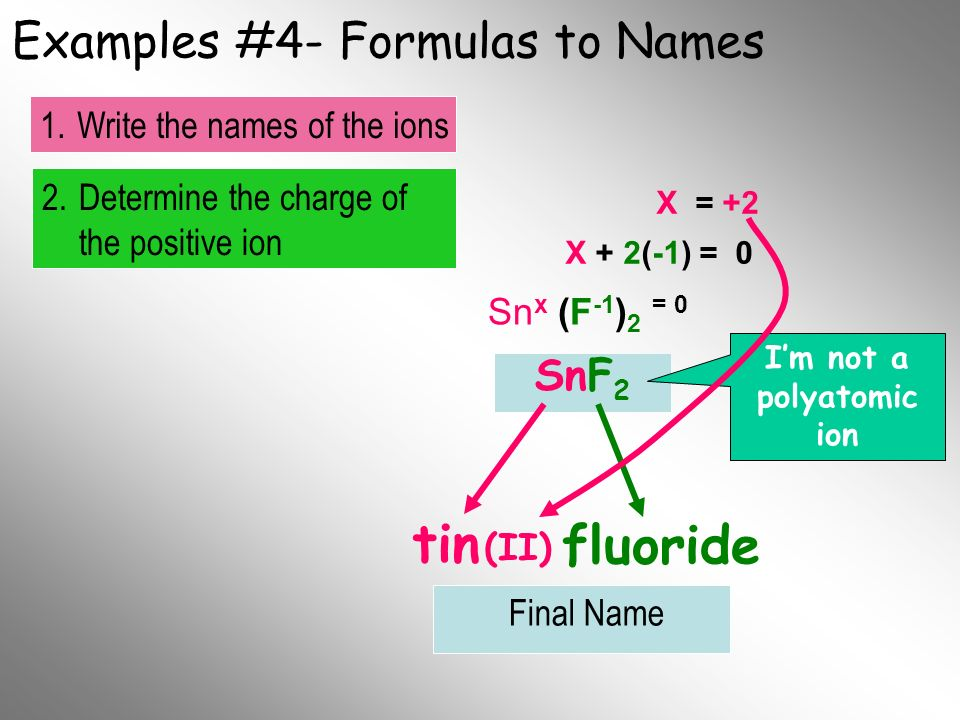 Examples #4- Formulas to Names