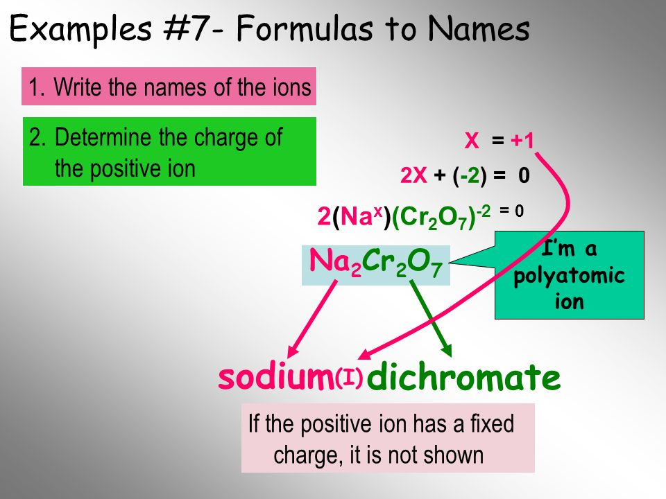 Examples #7- Formulas to Names