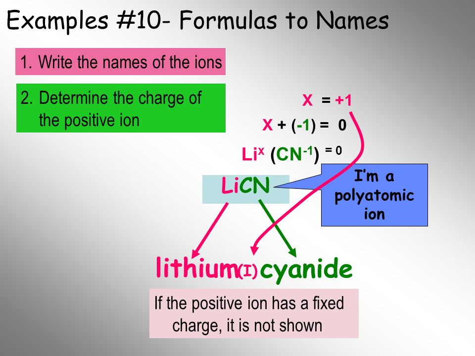Examples #10- Formulas to Names