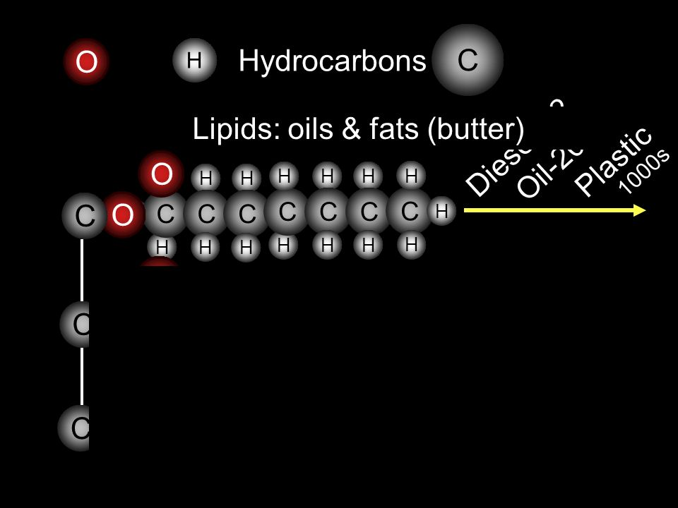 Lipids: oils & fats (butter)