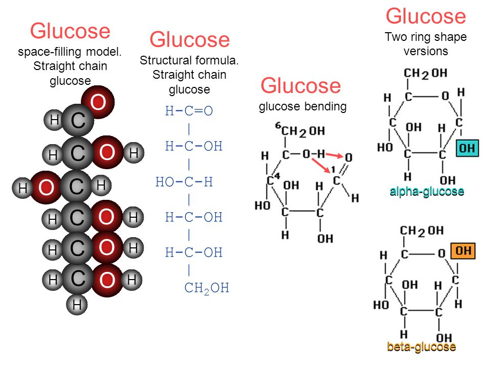 Glucose Two ring shape versions