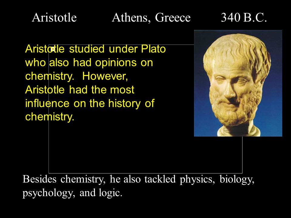 Aristotle Athens, Greece 340 B.C.