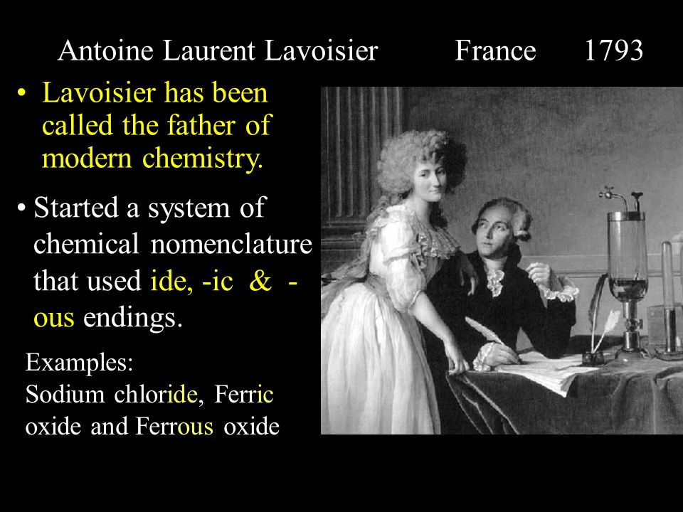 Antoine Laurent Lavoisier France 1793