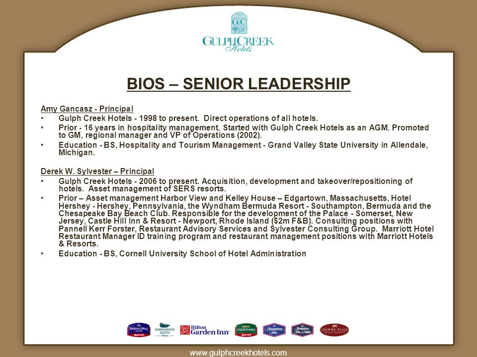 BIOS – SENIOR LEADERSHIP