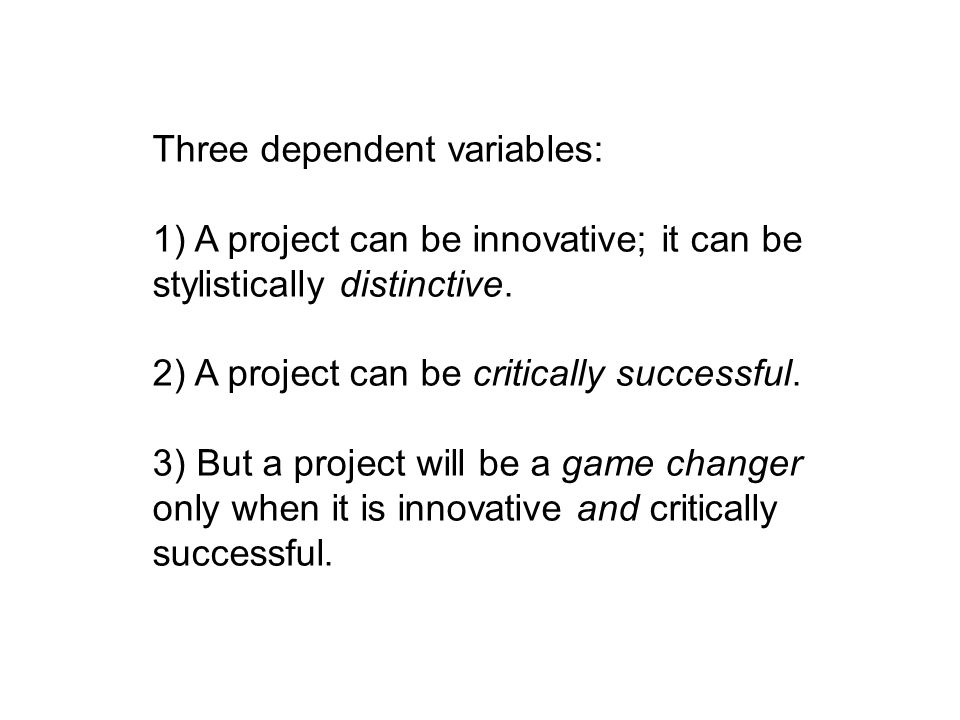 Three dependent variables: