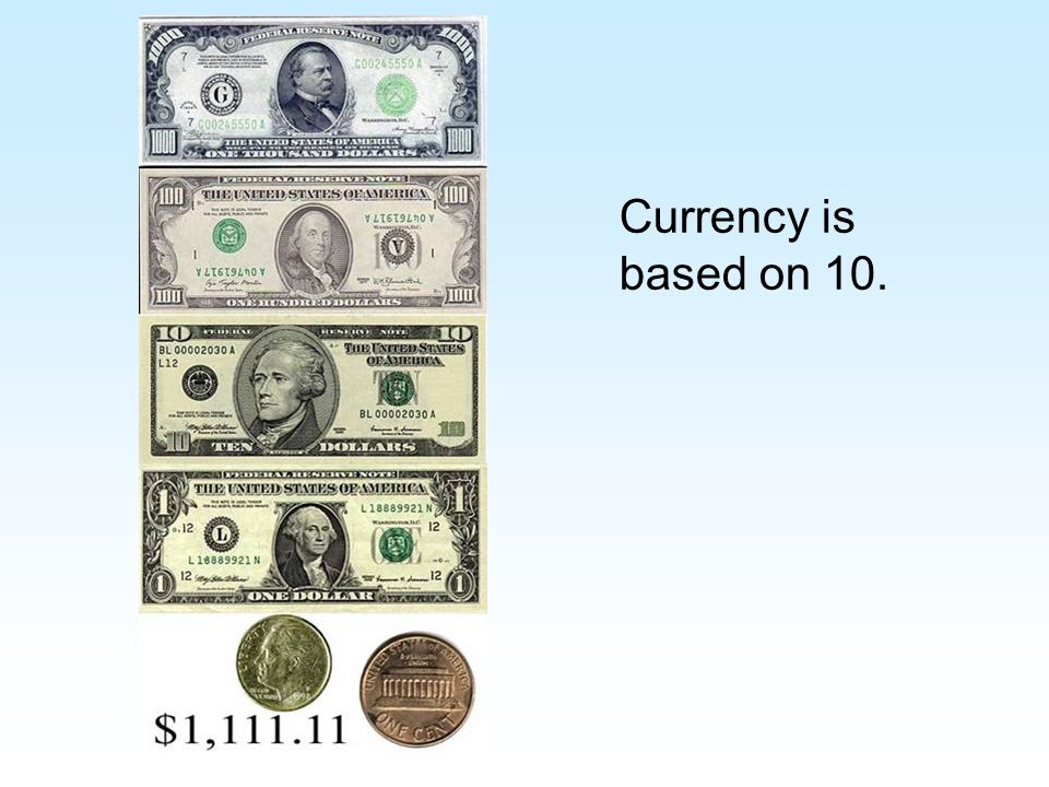 Currency is based on 10.