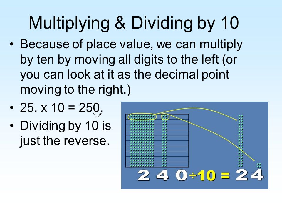 Multiplying & Dividing by 10