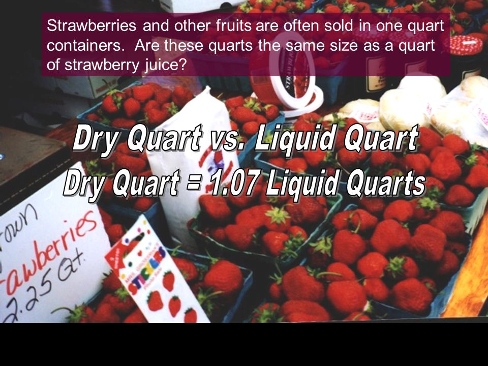 Dry Quart vs. Liquid Quart