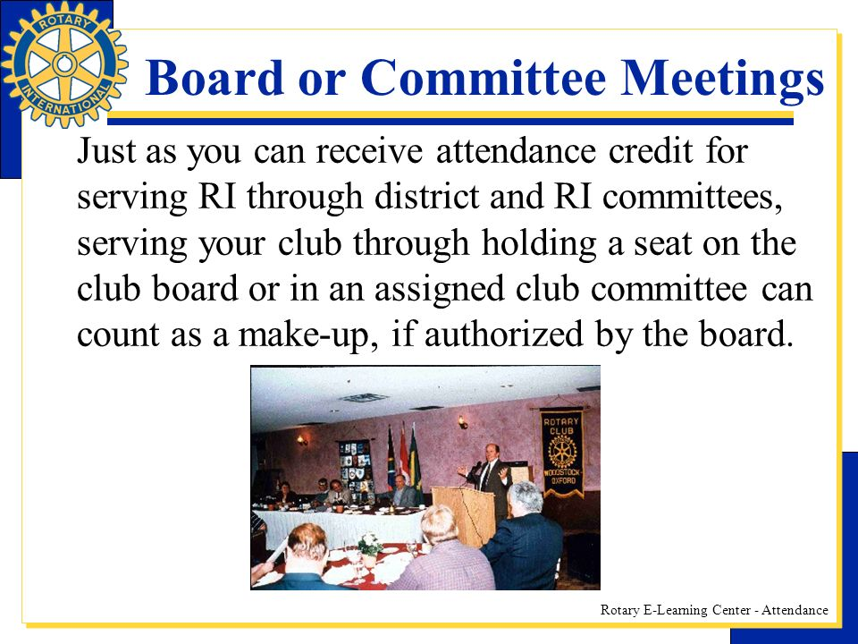 Board or Committee Meetings