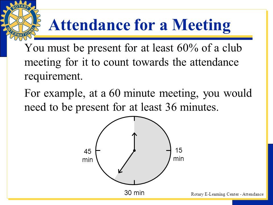 Attendance for a Meeting