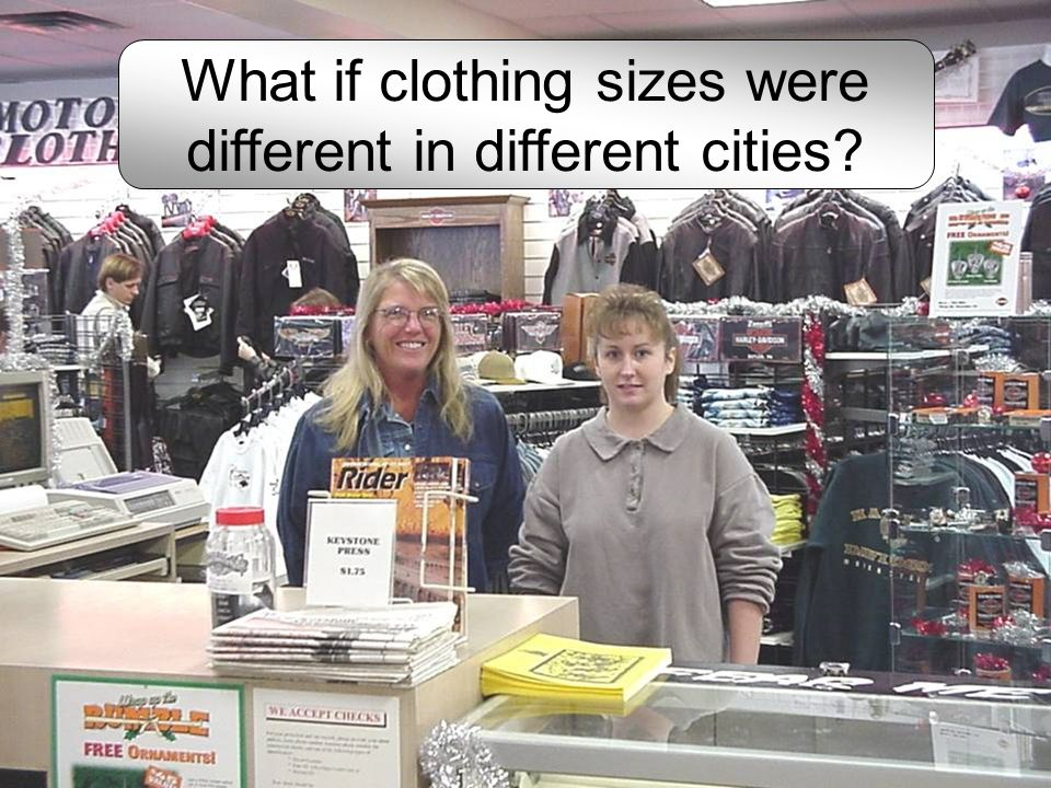 What if clothing sizes were different in different cities