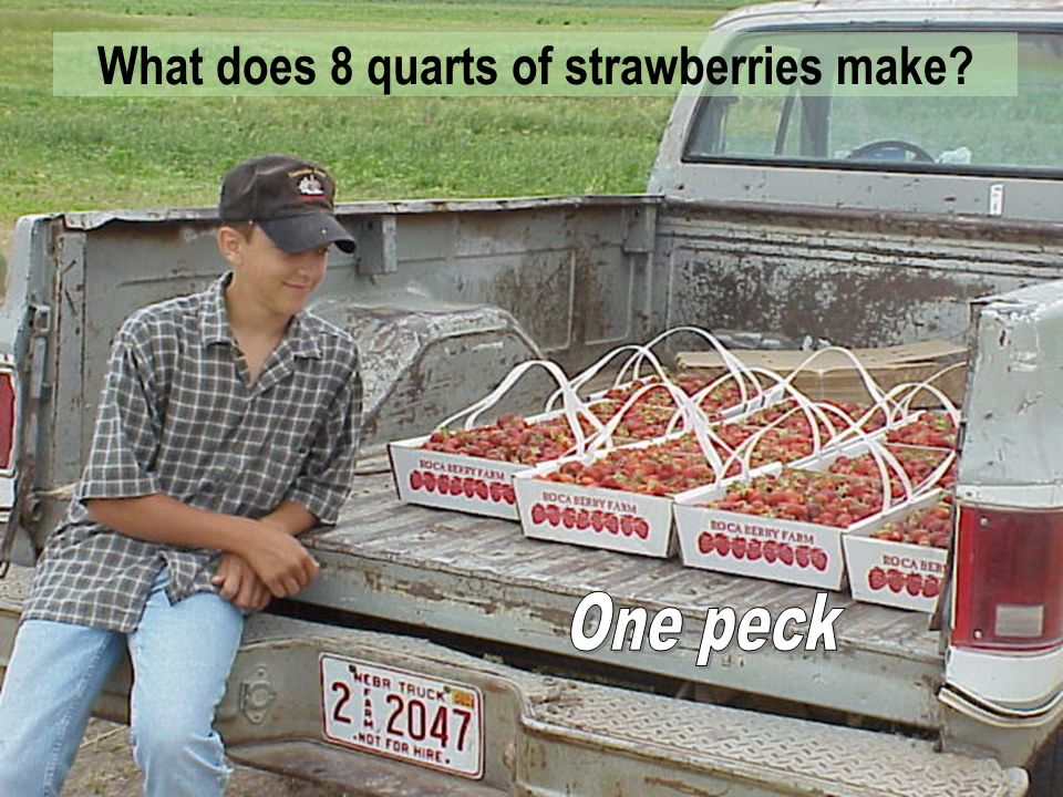 What does 8 quarts of strawberries make