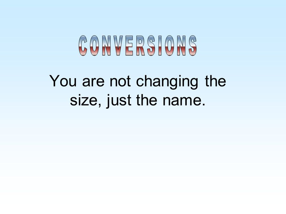 You are not changing the size, just the name.
