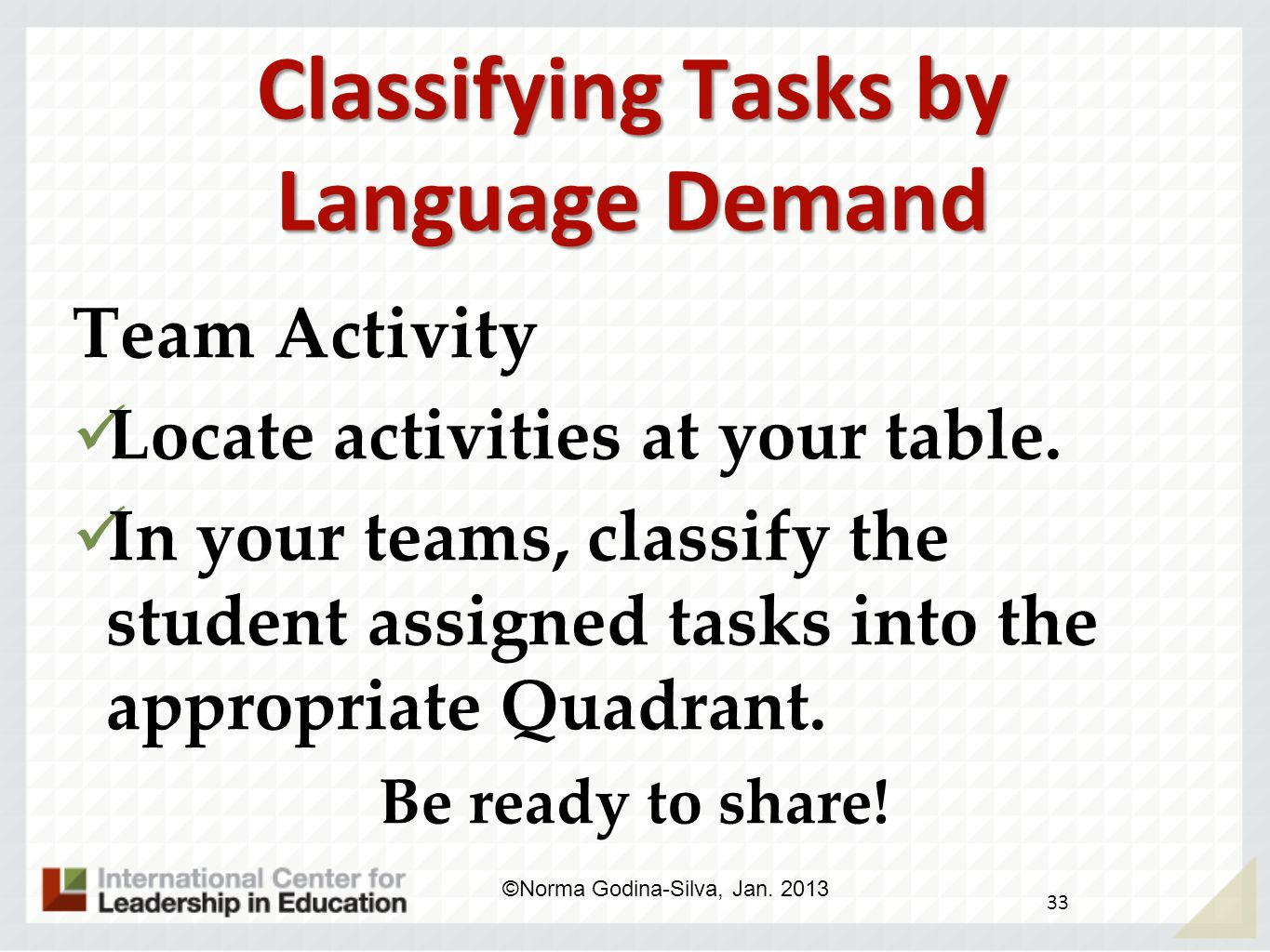 Classifying Tasks by Language Demand