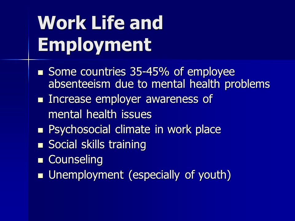 Work Life and Employment