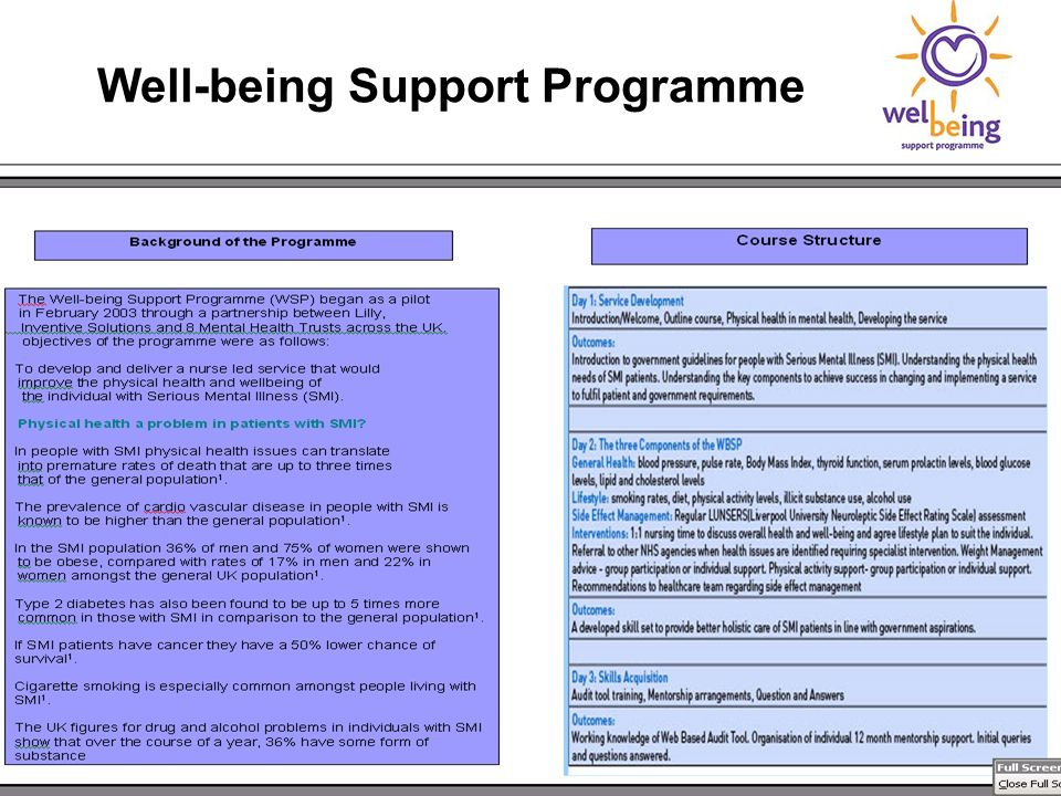 Well-being Support Programme