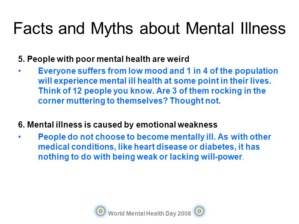 Facts and Myths about Mental Illness