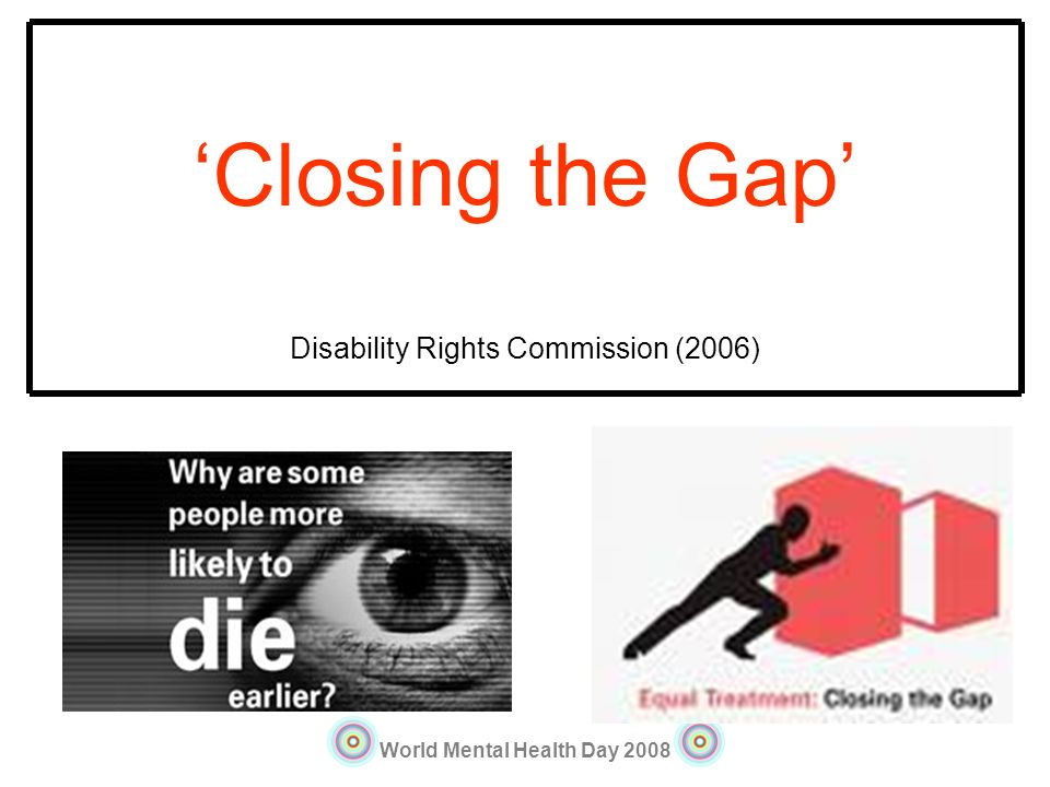 'Closing the Gap' Disability Rights Commission (2006)