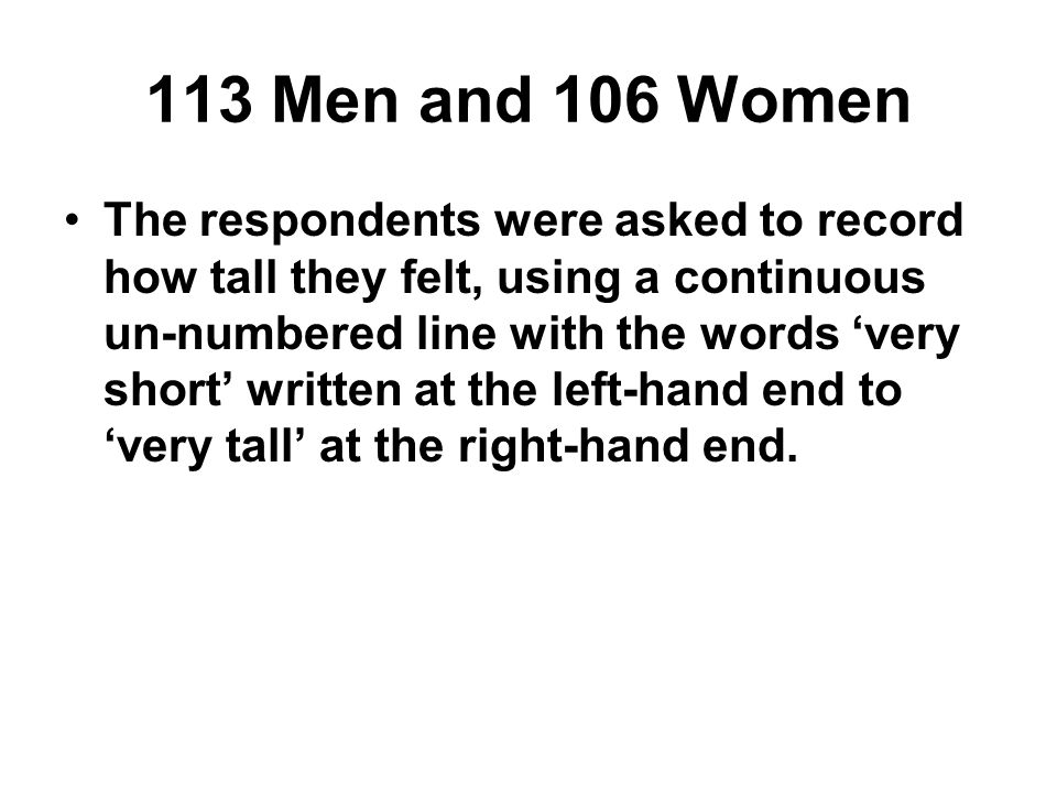 113 Men and 106 Women