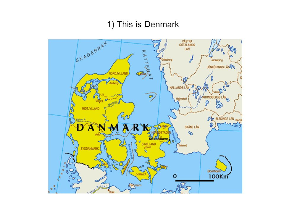 1) This is Denmark