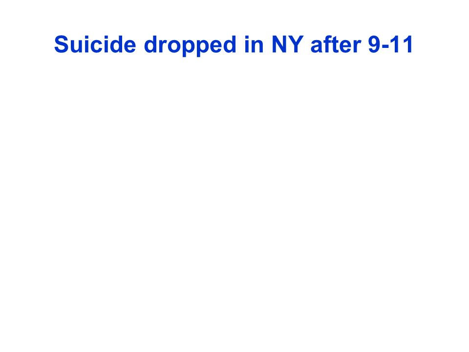 Suicide dropped in NY after 9-11