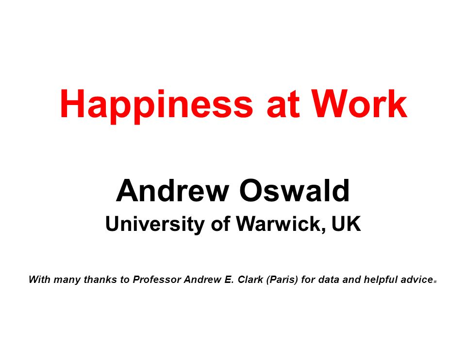 University of Warwick, UK