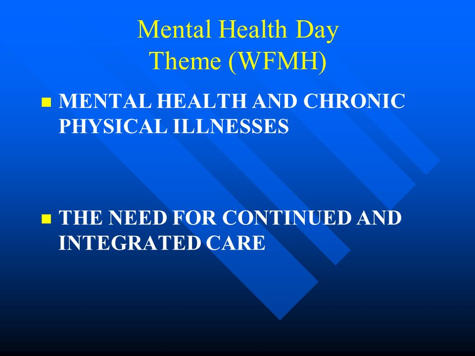Mental Health Day Theme (WFMH)