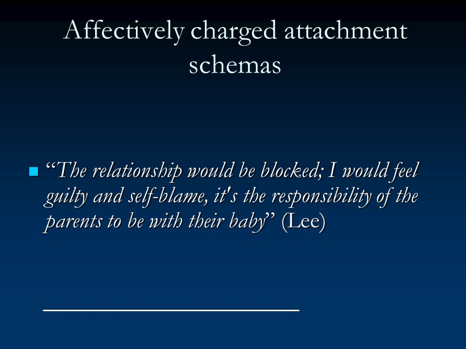 Affectively charged attachment schemas