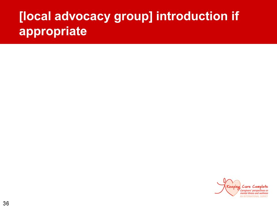 [local advocacy group] introduction if appropriate