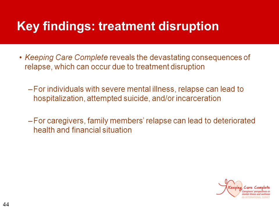 Key findings: treatment disruption