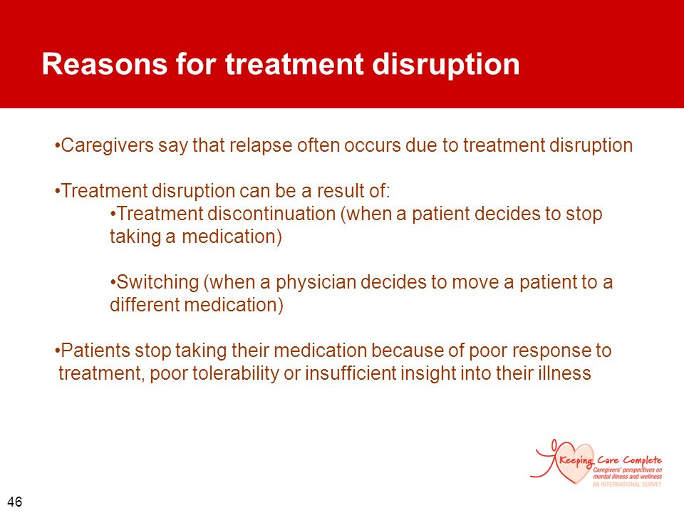Reasons for treatment disruption