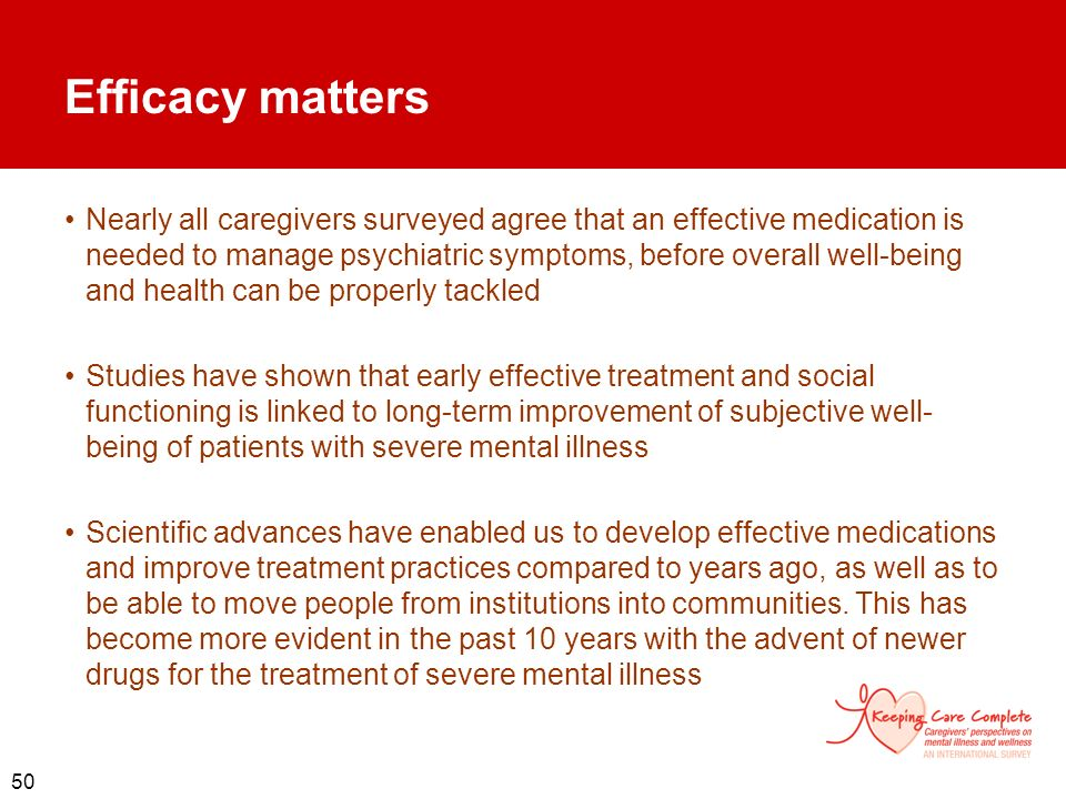 Efficacy matters