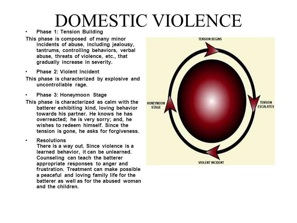 DOMESTIC VIOLENCE Phase 1: Tension Building