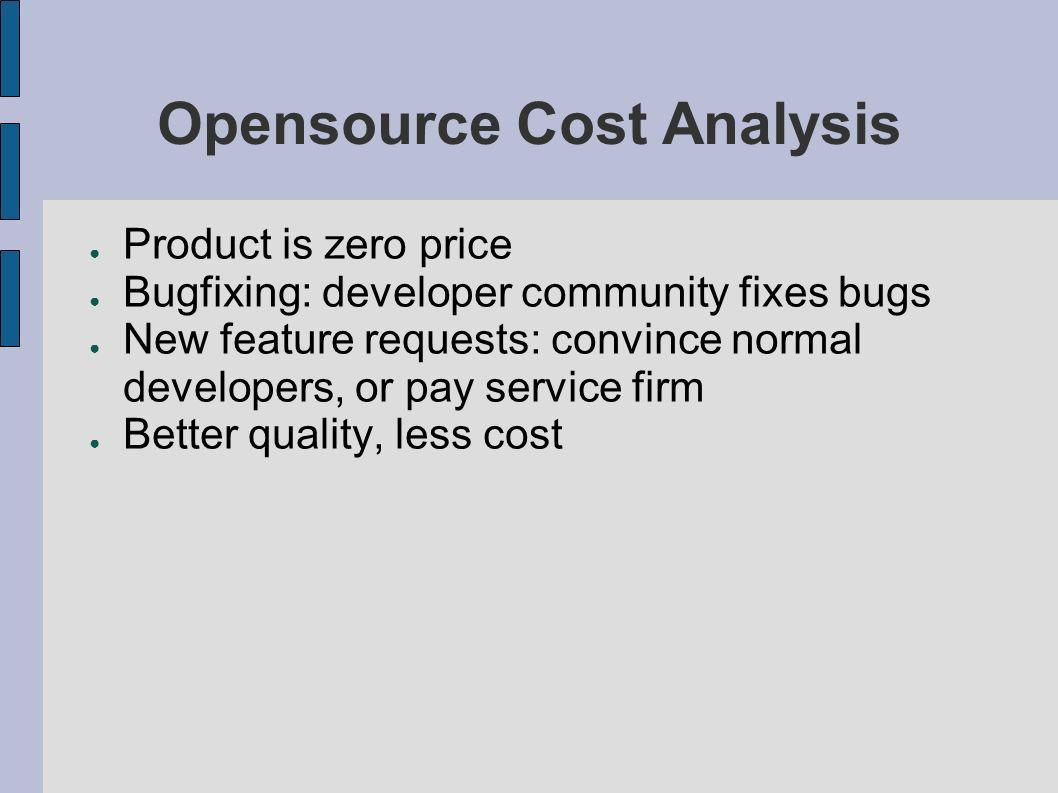 Opensource Cost Analysis