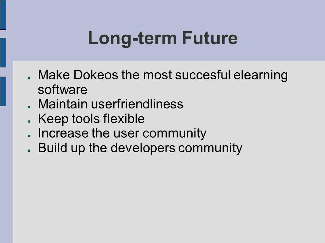 Long-term Future Make Dokeos the most succesful elearning software