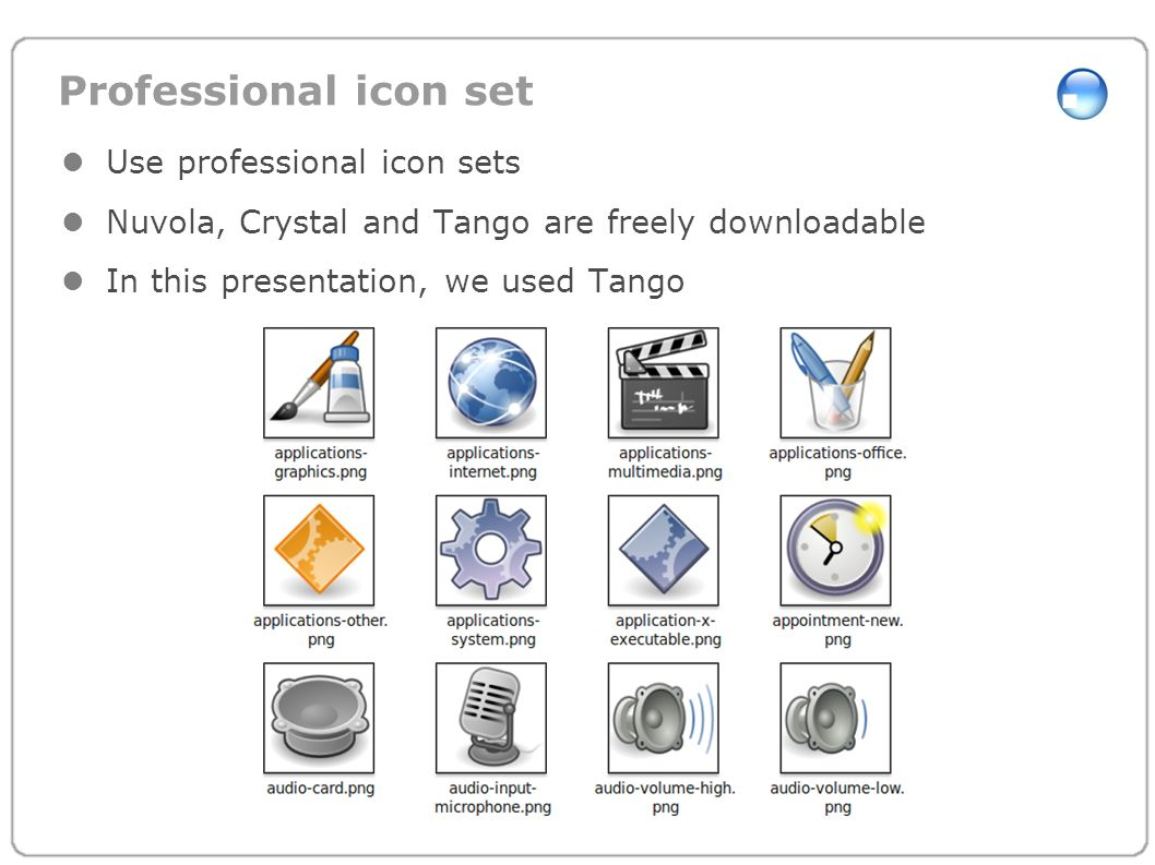 Professional icon set Use professional icon sets