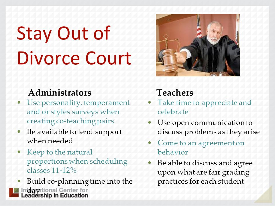 Stay Out of Divorce Court