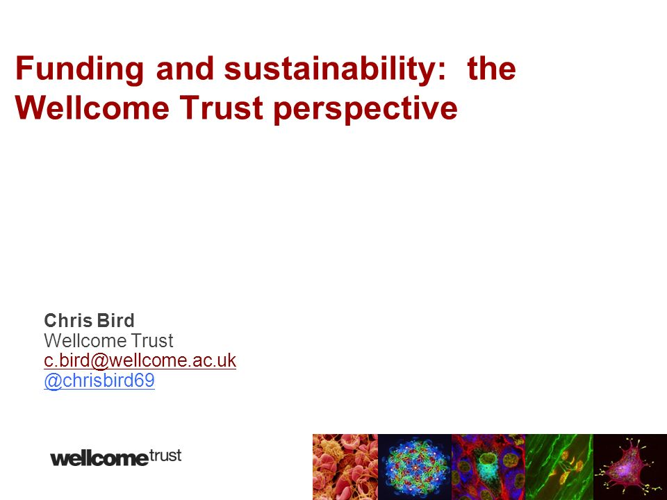 Funding and sustainability: the Wellcome Trust perspective