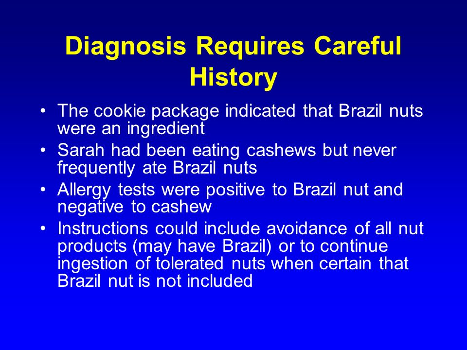 Diagnosis Requires Careful History