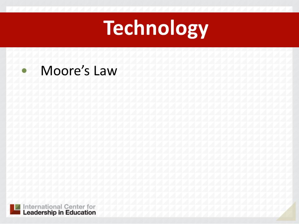 Technology Moore's Law
