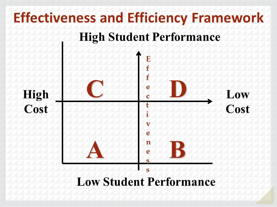 Effectiveness and Efficiency Framework Low Student Performance