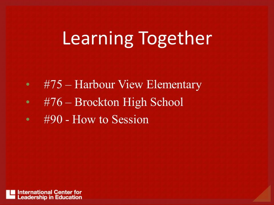 Learning Together #75 – Harbour View Elementary