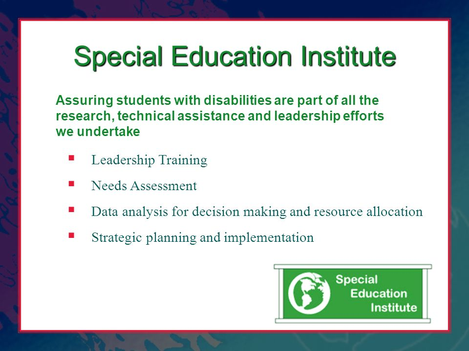 Special Education Institute